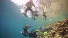 Kids Snorkelling in Papua New Guinea Stock Footage