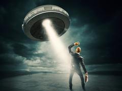 UFO space shuttle Stock Photos
