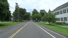 Driving along a New England country road Stock Footage