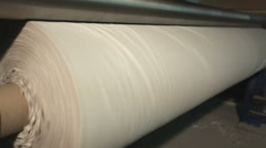 The paper reel production of toilet paper, side view Stock Footage