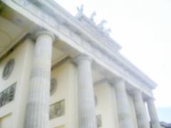 Stock Photo of Defocused Background of the Brandenburg Gate in Berlin, Germany