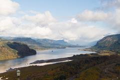 Columbia River Gorge Overview - stock photo