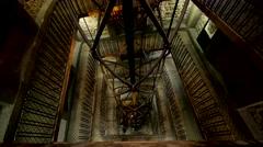 Clock tower interior - stock footage