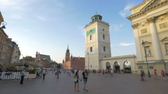 View of the Observation deck on a sunny day in Warsaw Stock Footage