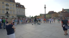 Magic tricks in Castle Square, Warsaw Stock Footage
