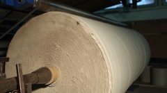 A drum with toilet paper in the production of toilet paper Stock Footage