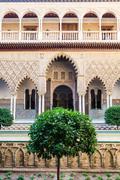 Stock Photo of Seville Alcazar Garden