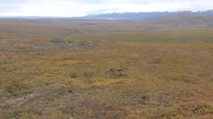 Driving Shot of Vast Arctic Tundra in Alaska Stock Footage