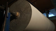 Production of toilet paper. bottom plan view Stock Footage