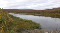 River in Alaska Arctic Tundra Stock Footage