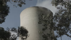 Power plant with trees Stock Footage