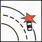 Stock Illustration of Norwegian supplementary road sign - Particular danger of accident