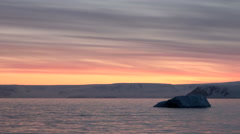 Sunset and Sunrise in Antarctica - Antarctic Peninsula - Palmer Archipelago Stock Footage