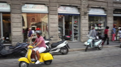 Vespa Italian scooter Stock Footage