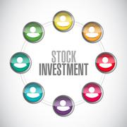 Stock Investment connections sign concept Piirros