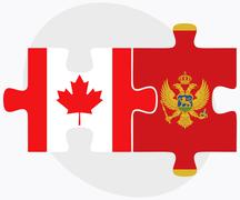 Stock Illustration of Canada and Montenegro