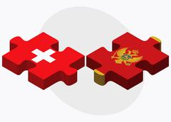 Stock Illustration of Switzerland and Montenegro