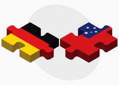 Germany and Samoa Flags in puzzle Stock Illustration