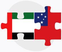 United Arab Emirates and Samoa - stock illustration