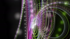 Fantastic animation with particle stripe object in motion, loop HD 1080p - stock footage