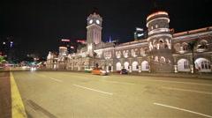 Night traffic in Kuala Lumpur Stock Footage