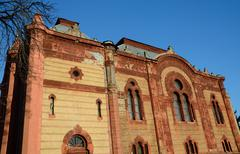 Stock Photo of Beautiful old jewish temple (synagogue) in Uzhgorod, Zakarpattia,UkraINE