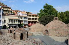 Tbilisi landmarks,medieval sulphur bathes,traditional georgian houses,unesco Kuvituskuvat