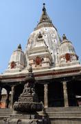 Ancient hindu temple at Khokana traditional Newari village,Nepal,unesco heritage Stock Photos