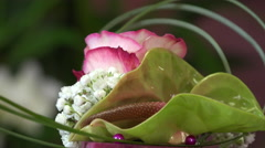 flower arrangement shaped as a cake - stock footage
