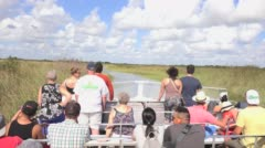 Tourist airboat ride. - stock footage