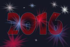 Happy new year 2016 Piirros