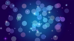 Blue bokeh lights, particles and starglow. Abstract motion background Stock Footage