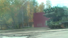 Buk-M1-2 surface-to-air missile systems in motion - stock footage