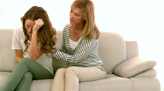 Mother comforting her daughter Stock Footage