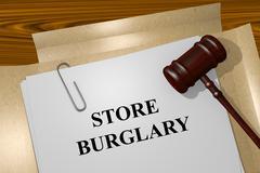 Store Burglary concept - stock illustration