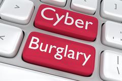 Cyber Burglary concept Stock Illustration