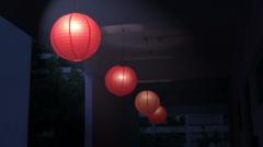 Chinese lanterns hanging Stock Footage