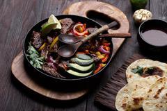 Beef fajitas - stock photo