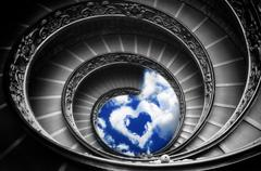 Path to love - the famous spiral stairs in vatican museum (Rome) Stock Illustration