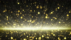 Stock Video Footage of gold glitter particles seamless loop background 4k (4096x2304)
