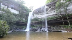 Wide view of Huay Luang Waterfall in Ubonratchathani at Thailand - stock footage