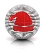 Santa hat icon Stock Illustration