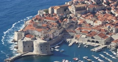 Top view of Old Town of Dubrovnik Stock Footage