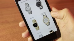 Men's Watches. Online Trading - stock footage