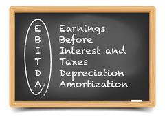 Blackboard EBITDA Term Stock Illustration
