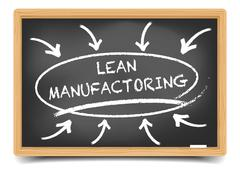Lean Manufactoring Focus - stock illustration