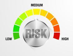 Risk Meter - stock illustration