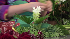 Floral composition for a center table Stock Footage