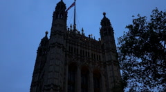 Westminster Palace in the evening - stock footage