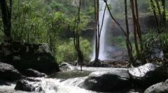 Huay Luang Waterfall - stock footage